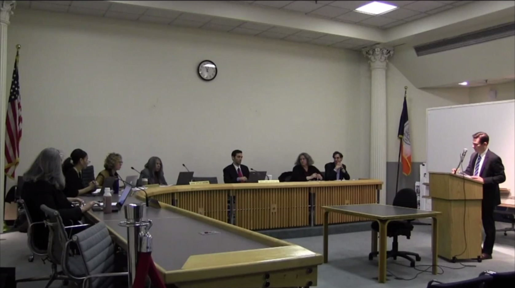 Richard Lobel testifies before the Board of Standards and Appeals.  Image credit:  BSA